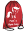 PERSONALISED Drawstring Gym Bag Cute My PONY School PE Kit Sport