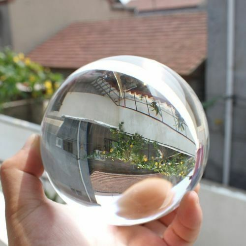 Stand Asian Rare Natural Quartz Magic Crystal Healing Ball Sphere 40-200mm