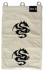 Kung Fu Canvas Sand Striking Wall Bag Hand Training Iron Palm 2 Sections