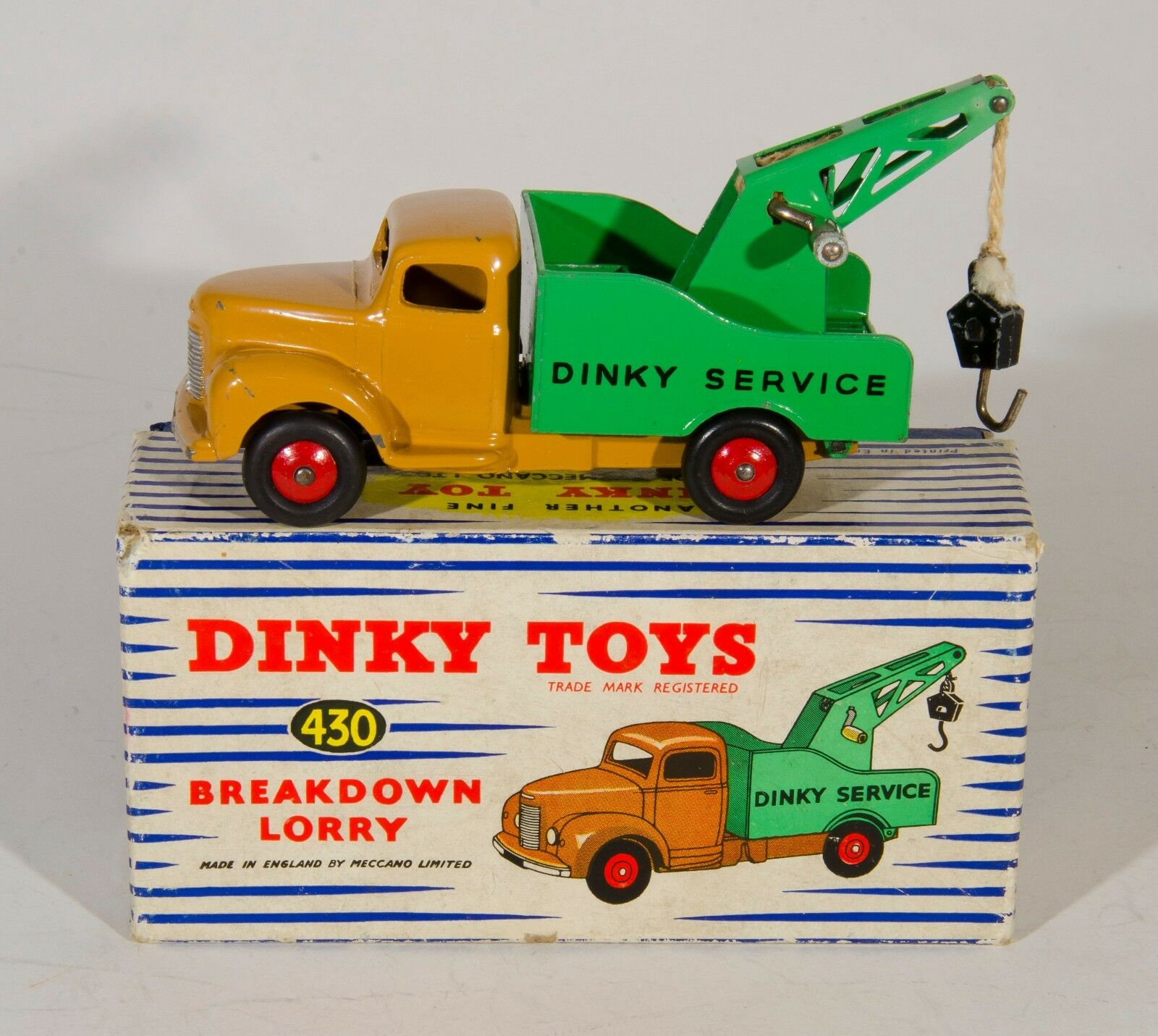 Dinky Toys 430 Commer Breakdown Lorry. 1st Issue. Tan Green. Boxed. 1950's