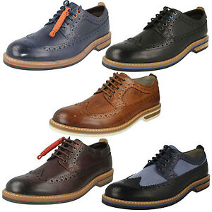 Image Is Loading Mens Clarks Leather Lace Up Full Brogue Formal