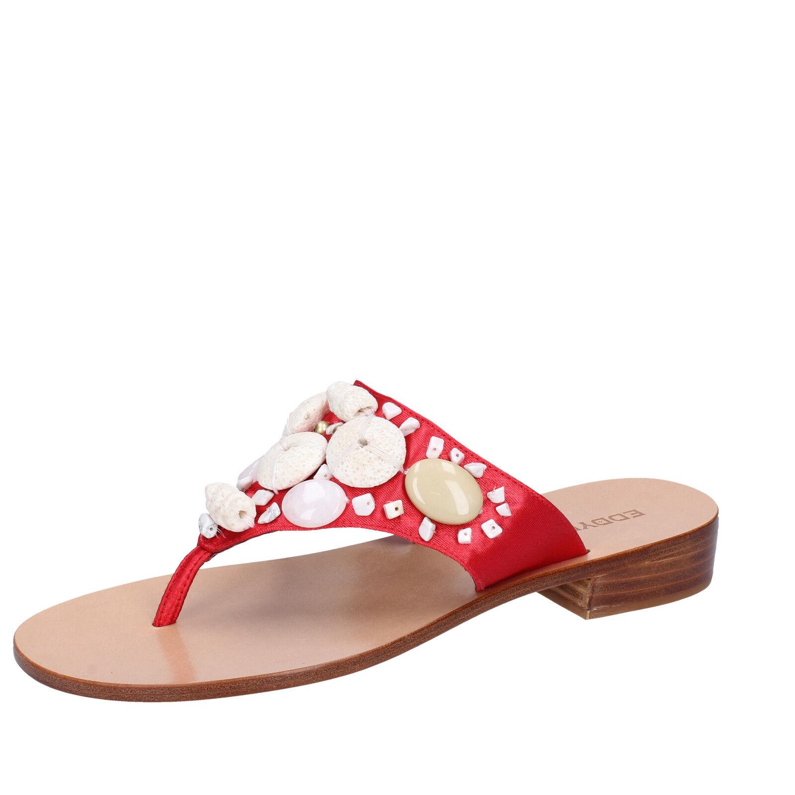 Para mujeres Zapatos Eddy Daniele 7 () Sandalias Satén Rojo AW375-37