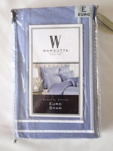 Wamsutta Baratta Stitch One Euro Sham in Periwinkle New