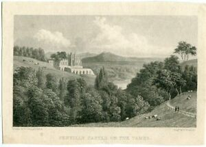 Pentilly-Castle-On-The-Tamer-Engraved-By-E-Francis-Drew-W-Westall
