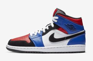 buy popular 8e1b9 8240f Image is loading Nike-Air-Jordan-1-Mid-Top-3-GS-