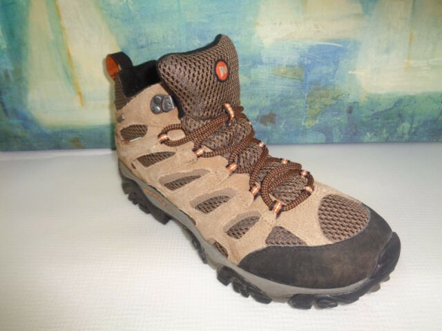 3324f7d346c Merrell Moab Mid Waterproof Earth Brown Hiking BOOTS Size 10 J88623