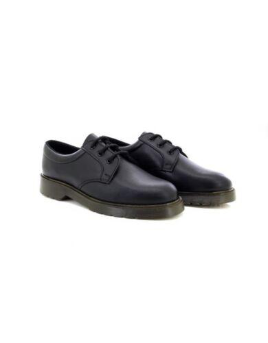 Noir Chaussure Air Uniforme Grafters Rembourré Col Élégant Cuir En wHAyxqXaB