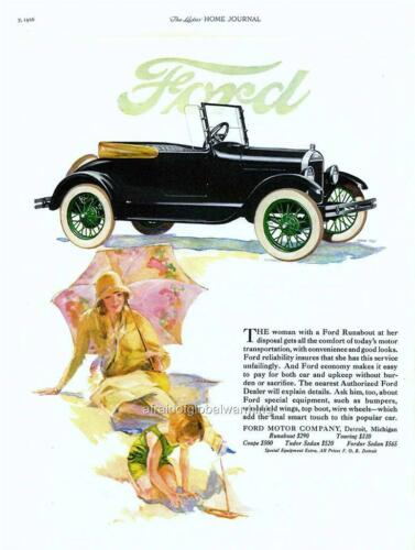Model T Old Print Runabout Auto Ad 1926 Ford