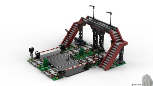 Bahnübergang aus Noppensteinen PDF-Bauanleitung u.a Lego