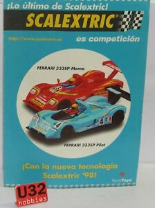 Scalextric Tecnitoys BroschÜre-neuheiten Ferrari 333p AÑo1998 Neu 2 Seiten Shrink-Proof Spielzeug Kinderrennbahnen