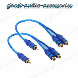 Pair-of-RCA-Y-Splitter-Lead-Convertor-Adapter-2-x-Female-TO-1-x-Male