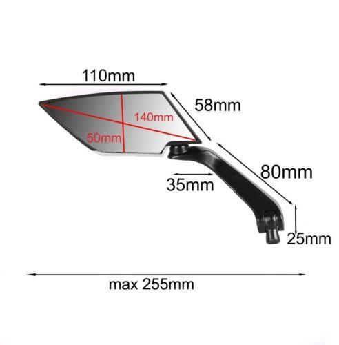 Tracer schwarz Lenker Spiegel XR1 für Yamaha MT-07