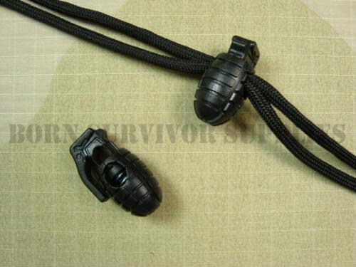 Grenade shaped cordon serrures forte grip plastique cordon paracord lanyard beads