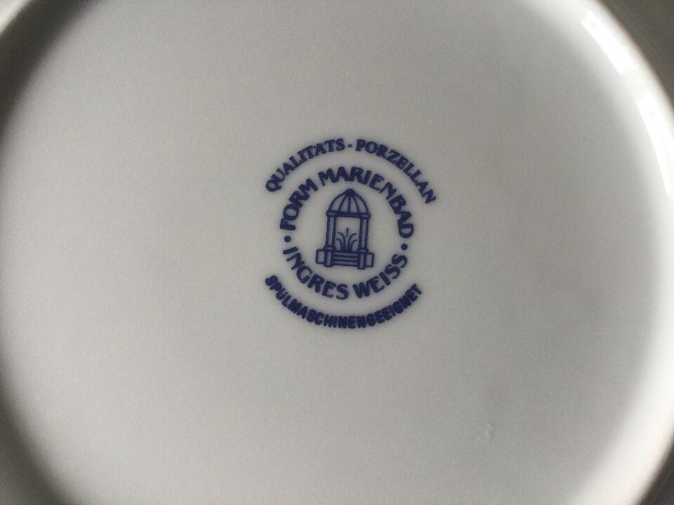Porcelæn, Tallerken, Form Marienbad