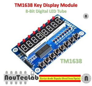 1 StüCke Blau TM1638 Taste LED Display Modul 8 Bit Digitale LED Taste E3J3