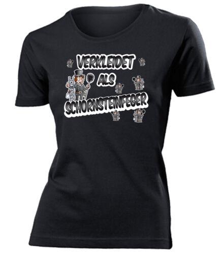 CARNEVALE-CARNEVALE-travestito come spazzacamini T-Shirt Donna S-XXL