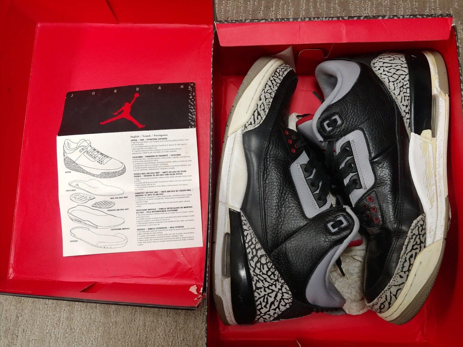 Jordan 3 Noir Ciment 2011 Taille 11.5
