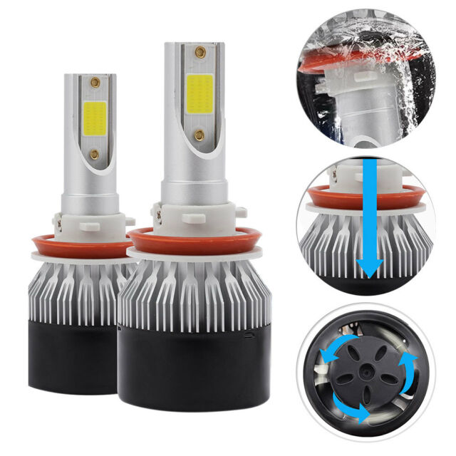 CREE H4 LED Headlight Kit Light Bulbs Hi//Lo Beam 6000K 9003 HB2 1850W 277500LM