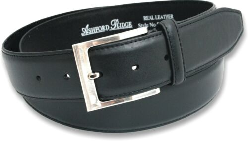 """MENS BLACK REAL 36MM WIDE COATED LEATHER BELT JEANS SIZE 2XL XXL 48/"""" WAIST NWT"""