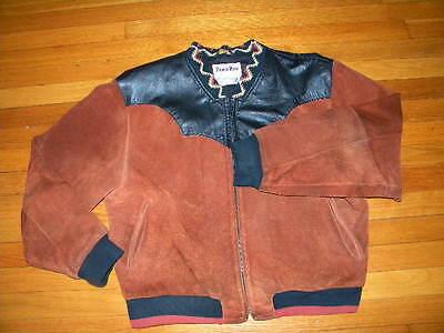 Ambizioso 1990's Pioneer Wear Giacca In Pelle Scamosciata Con Cool Dettagli Est. Uomo Rinfrescante E Arricchente La Saliva
