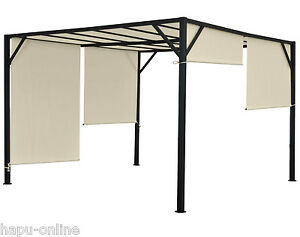 3x3 4x3 4x4 m pavillon garten terrasse sonnenschutz. Black Bedroom Furniture Sets. Home Design Ideas