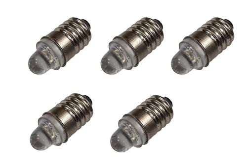 Miniature Led Flashlight Bulbs 3 Volt Mini Lamps Cool White E10 Small Led Bulbs