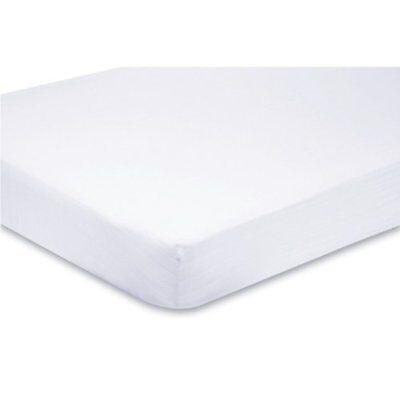 100 Per Lettino 2x Jersey Di Cotone Montato Sheets 140 X 70 Cm Bianco- Corrispondenza A Colori