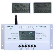 LCD 30A 12V/24V MPPT Solar Panel Regulator Charge Controller &USB Three timer TL