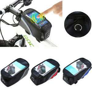 Waterproof MTB Cycling Bike Bicycle Front Tube Frame Bag With Phone Holder