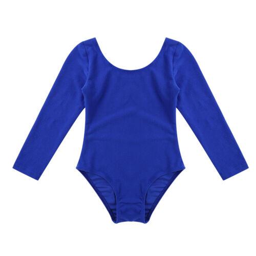 Children Kids Girls Ballet Gymnastics Leotard Dance Dress Long Sleeve Dancewear