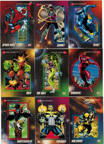 1992 MARVEL UNIVERSE SERIES III 3 IMPEL COMPLETE CARD SET #1-200 and 4 WRAPPERS