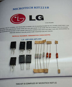 LG-42PJ550-42PJ350-EBR66607501-EAX61332701-13-PIECE-Y-SUS-REPAIR-KIT-READ-ADD
