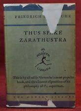Early Modern Library 9 Thus Spake Zarathustra Nietzsche Toledano 6 w/DJ 1930-31