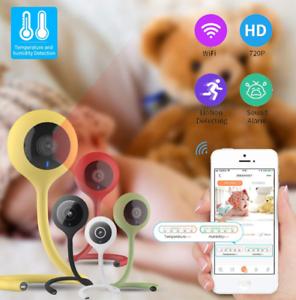 Wifi Baby Monitor Safe Camera Video Temperature 2-Way Audio Lullaby Night Webcam