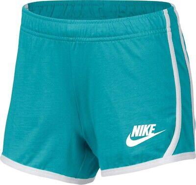 Nike Sportswear Big Girl/'s Vintage Blue//Grey// Camo Shorts AQ0606-471 M//L//XL