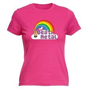 3f44ece4 Image is loading Death-Metal-Unicorn-Rainbow-WOMENS-T-SHIRT-Heavy-