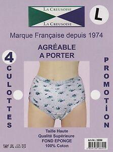 LOT-4-CULOTTES-FEMME-MARQUE-FRANCAISE-LA-CREUSOISE-100-COTON-INTERLOCK