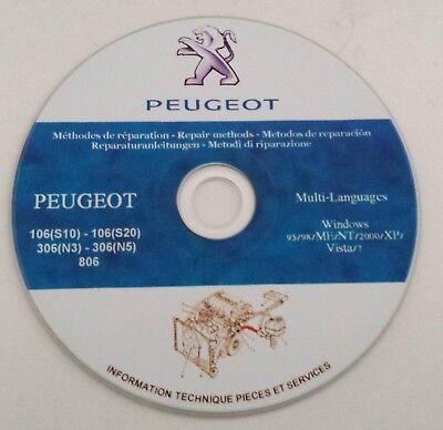 WERKSTATTHANDBUCH REPARATUR PEUGEOT 806 REPARATURANLEITUNG AUF CD