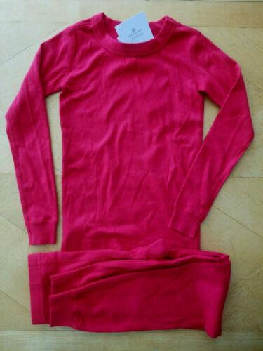 140 10 NWT HANNA ANDERSSON ORGANIC PAJAMAS SOLID RED BOYS GIRLS 110 5