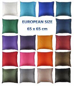 EUROPEAN-CONTINENTAL-Silk-Bed-Pillow-Case-Slip-Cover-65-x-65cm-25-6-x-25-6-in