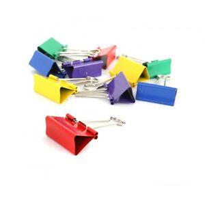 10 Stück Ordner Praktische Papier Bunte Zubehör Metallklammern 15mm Farbe eNwrg