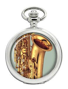 Saxophone-Pocket-Watch