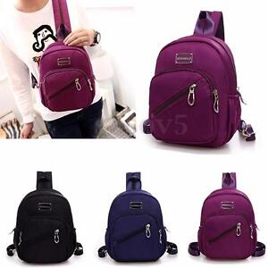 Women Girls Casual Waterproof Small Backpack Travel Purse Bag Satchel Rucksack