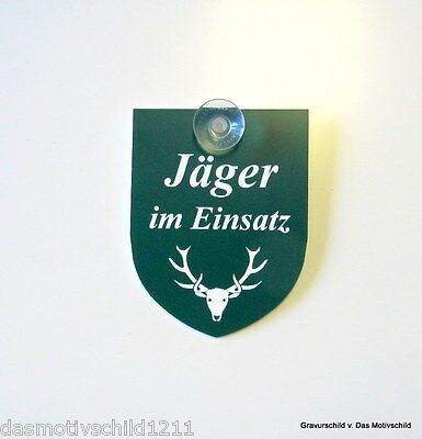 Forst Betrieb,Jagd,Jagen,m 1 Sauger,9 x 7 cm,Gravur,Schild,Forstbetrieb,Förster