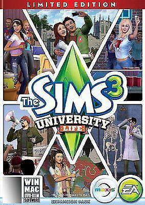 1 of 1 - The Sims 3: University Life Limited Edition (PC, 2013)
