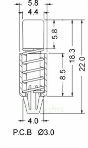 10x PC Heatsink Cooler Cooling Fan Spring Rivet Fastener Push Pin Mounting Screw