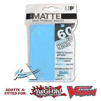 60 Bustine Protettive NEW Ultra PRO MATTE Small Size Sleeves • Azzurro