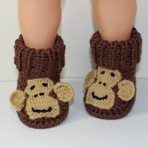 PRINTED-KNITTING-INSTRUCTIONS-TODDLER-MONKEY-BOOTS-KNITTING-PATTERN