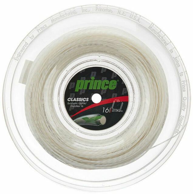 Prince Tour Classic Natural 1.30mm 200m 660ft 16gauge Tennis String Reel