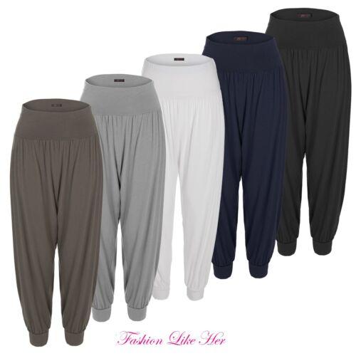 Donna Pantaloni Larghi Stile Harem Pantaloni Loose Fit Yoga Ali Baba Hareem Leggings